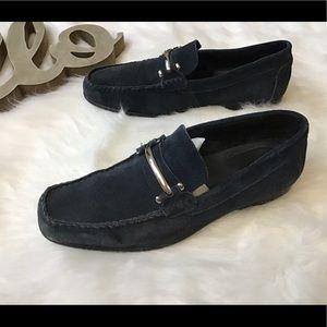 Men's Stacy Adams Navy Suede Loafers